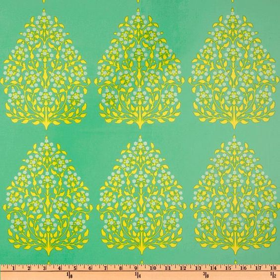 Amy Butler Lark Henna Trees Grass LAMINATE by lucyintheskyquilts