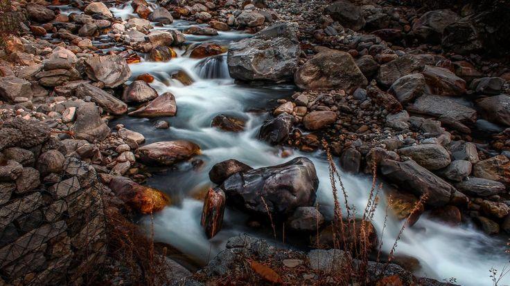 Kullu Manali waterfall Indus river