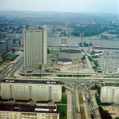 Centre Of Former Karl Marx Stadt Now Chemnitz