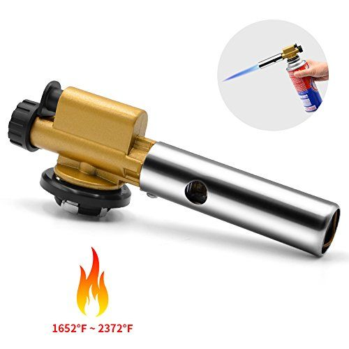 Butane Torch, AQQEF Kitchen Torch with Poize Ignition soldering torch, Adjustable Flame Cooking Torch, Blow Torch Culinary Torch for Unfreeze, Drying, Soldering, Jewelry Processing