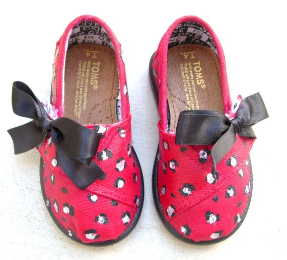 Tiny TOMS Cheetah Print with Bow custom made on by FruitfulFeet,