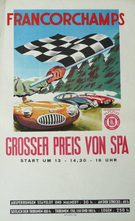 Affiche+originale+Grand+prix+de+Spa+Francorchamps+1952
