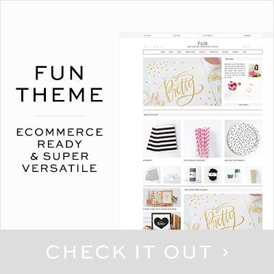Fun Theme. Ecommerce ready