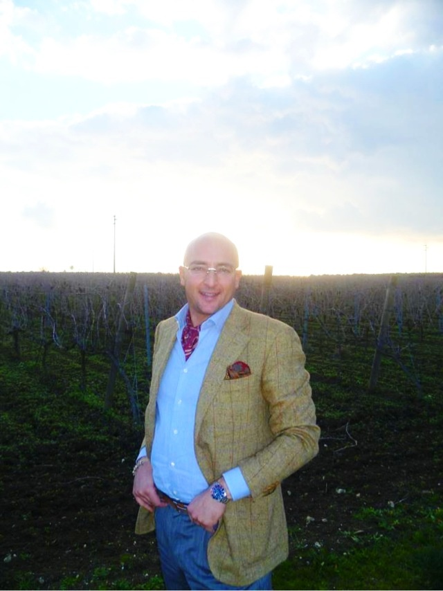 saverio scattaglia between negroamaro's vineyards