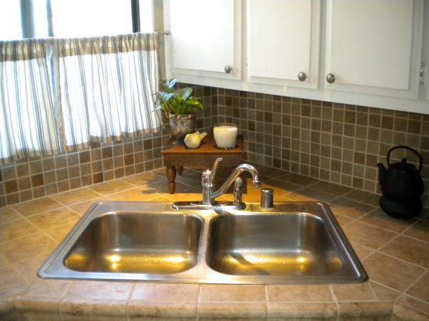 Single Wide Mobile Home Kitchen Tile Back Splash