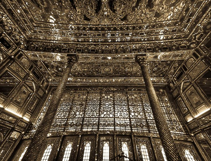 Diamond Hall (Talar e Almas) Golestan Palace in Tehran