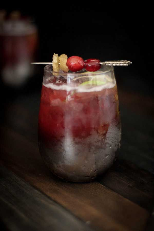 Cranberry Ginger Moscow Mule | {Beard and Bonnet}