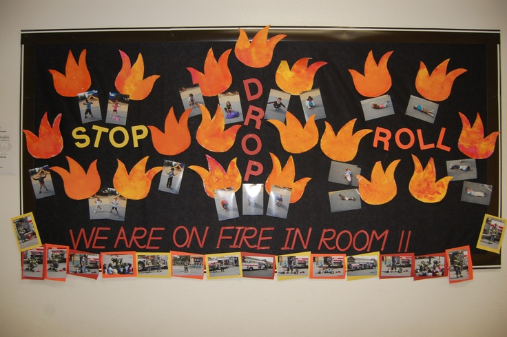 On Fire in Room 11! - National Safety Month Bulletin Board