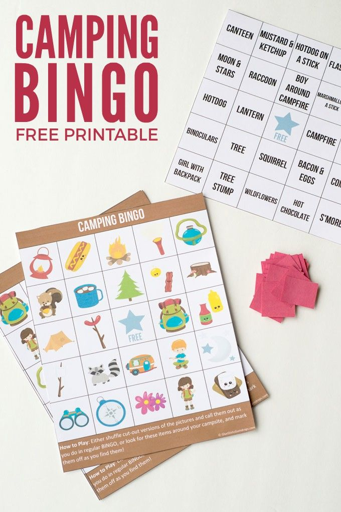 Camping Bingo Printable for Kids