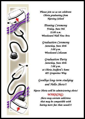 Nurse Pinning Ceremony Invitations