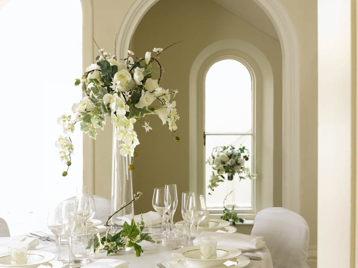 An elegant table centrepiece #wedding #dunelm  Products used: Tall Foot Vase