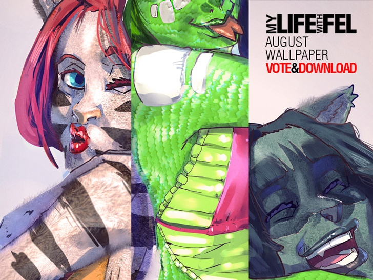 New My Life with Fel wallpaper! just vote and download! http://topwebcomics.com/vote/11586/default.aspx ,