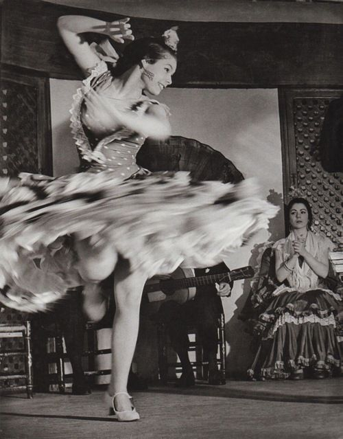 Anonymous Photographer - Gypsy dancer, Spanish, Flamenco, 1956