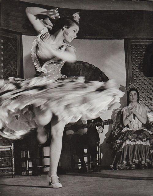 Anonymous Photographer - Gypsy dancer, Spanish, Flamenco, 1956