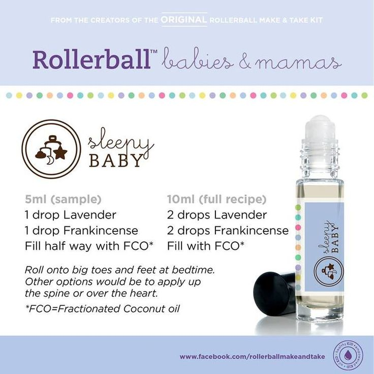 Essential oils roll-on recipe for sleepy baby. For more info on Young Living Essential Oils, visit:  www.TheSavvyOiler.com