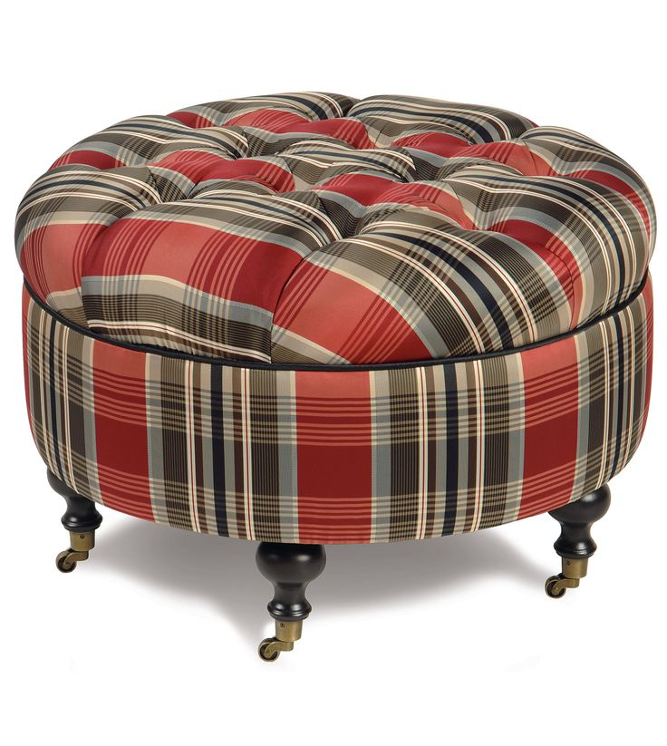 Icon Of Small Round Ottoman Giving Extra Update In Your Home Decor
