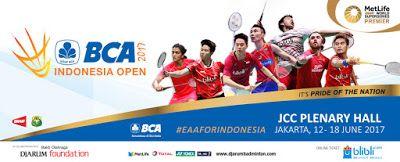 Live Streaming BCA Indonesia Open Super Series Premier 2017
