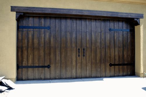 Wood Stain Look To Garage Door House Color Pinterest