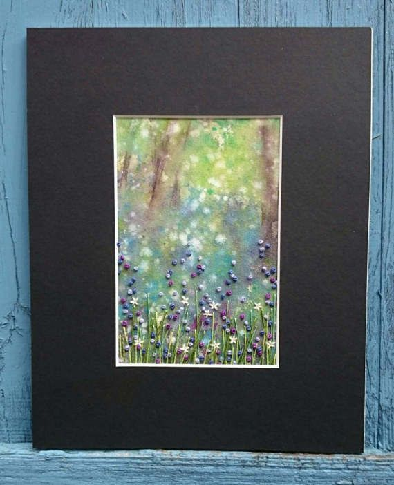 Check out this item in my Etsy shop https://www.etsy.com/uk/listing/503796696/textile-artwork-bluebell-dreaming-small