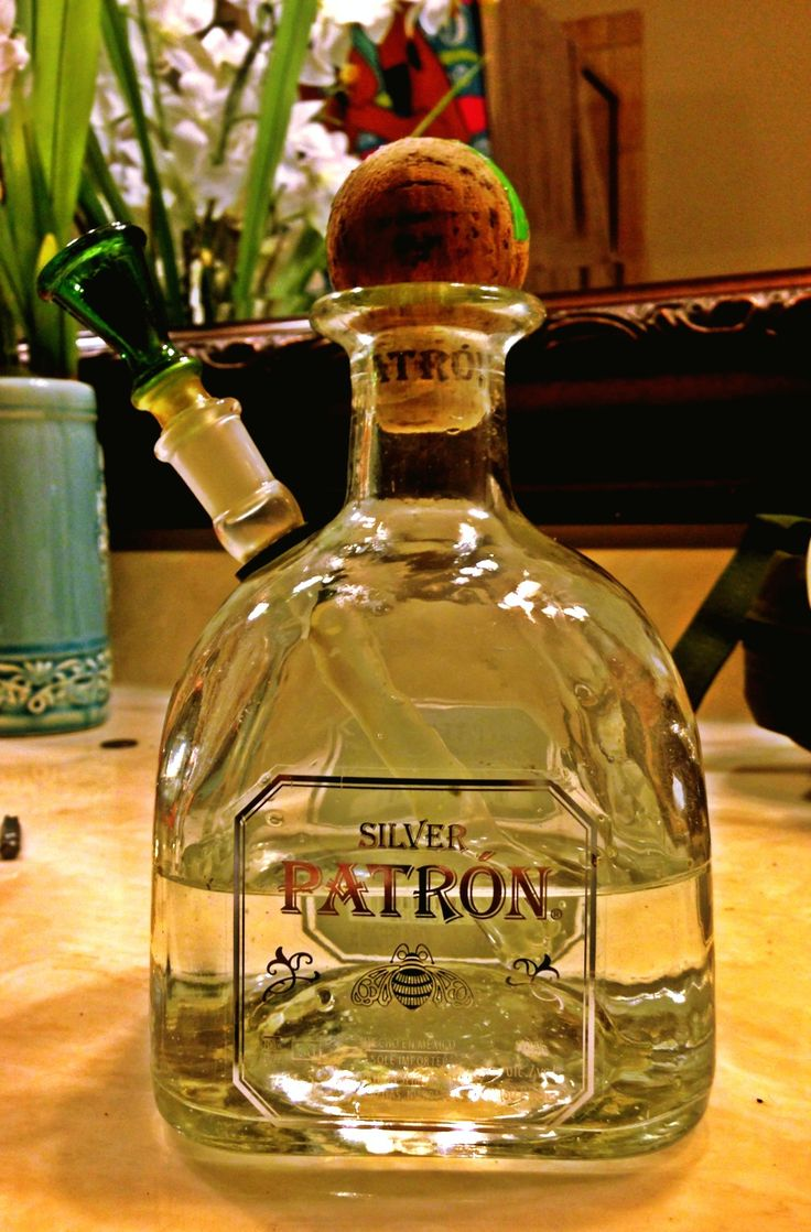 I had an empty patron bottle and decided to bong it!
