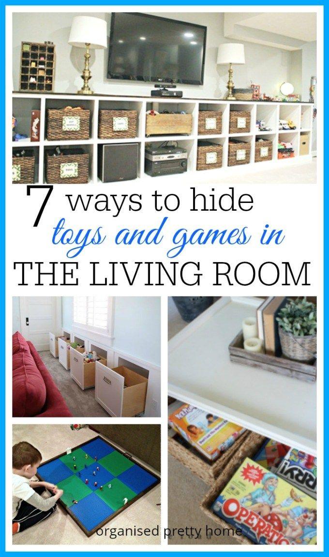 Living Room Toy Storage Ideas Organised Pretty Home Kid Friendly Living Room Family Friendly Living Room Living Room Toy Storage