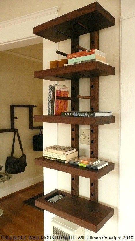 handmade wooden bookends wall mounted bookshelvesbookshelf - Wall Hanging Book Shelf
