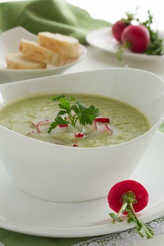 Zuppa di broccoli e cavolfiori.
