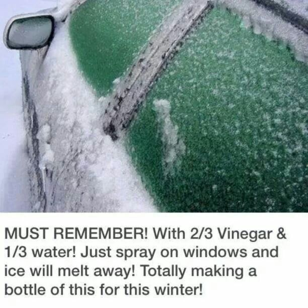 Ice melt winter life hack this works but can cause problems with your paint job. So keep off paint. One way to avoid this is keep track of the weather. If a freeze, freezing rain, sleet are predicted. Take 2 huge trash bags, ultra heavy weight, cut up one side and across the bottom use strong magnets secure the top down to the roof cover you mirror with the bottom corner shut the the remaining part firmly in the door on each side. Do the same in the rear. In the morning come out and remove…