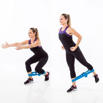 Resistance Band Workout: Split Squat Fanny Lifter - Resistance Band Workout: 7 Moves for Sculpted Buns - Shape Magazine - Page 3