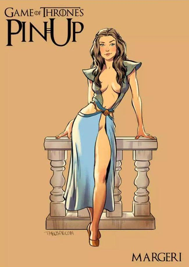 Cet artiste ré-imagine les filles de Game Of Thrones façon «pin-up»... Et ça déchire !