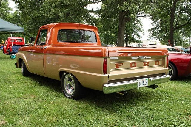 1964 Ford F 100 Styleside Custom Cab Pickup Truck 9 Of 10