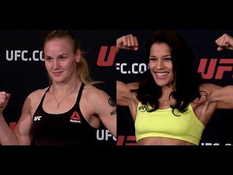 MMA Valentina Shevchenko and Julianna Pena UFC Denver Weigh-in