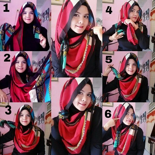 Simple loose hijab