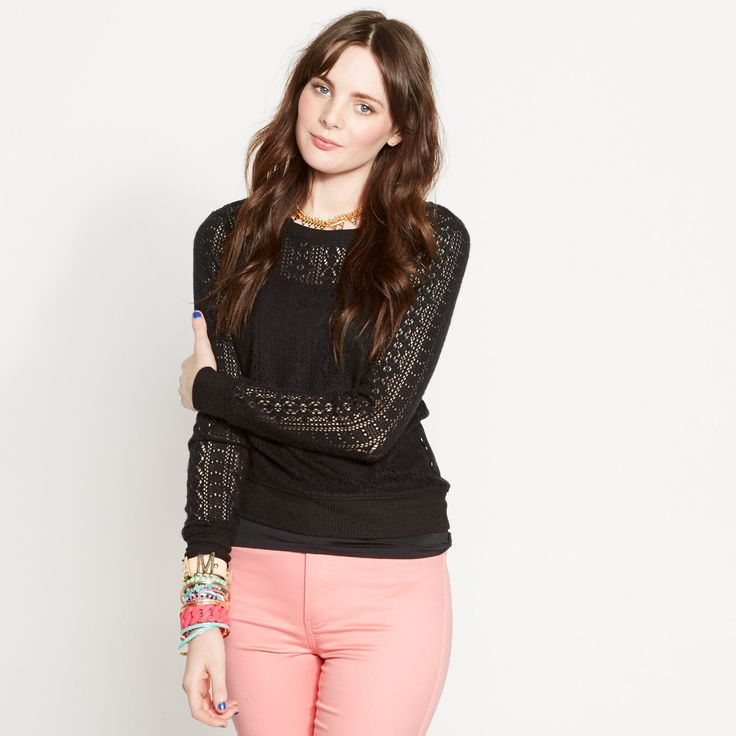 Fairy Floss Lace Sweat Top ($14.00) from Dotti.com.au