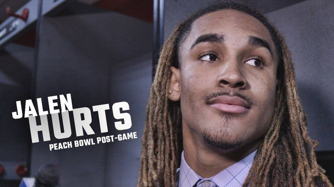 Hear what Jalen Hurts had to say about Alabama's win over Washington in the Peach Bowl