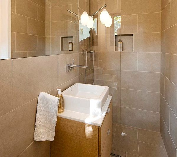Clean lines in a small custom bathroom Tiny Bathroom Design Ideas That Maximize Space