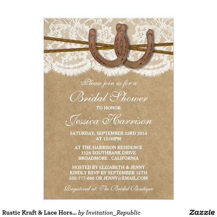 Rustic Kraft u0026 Lace Horseshoe Bridal Shower