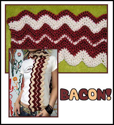 Bacon: Now Bacon Scarfs, Crochet Bacon, Crochet Food, Crochet I D, Baconi Stuff, Bacon Just, Food Rel, Etsy Shops, Crochet Items