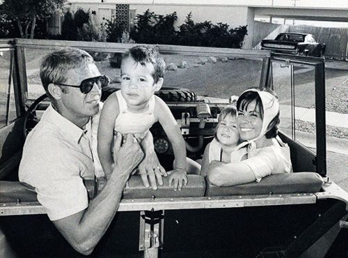 Steve McQueen and his wife, Neile Adams, with their ...