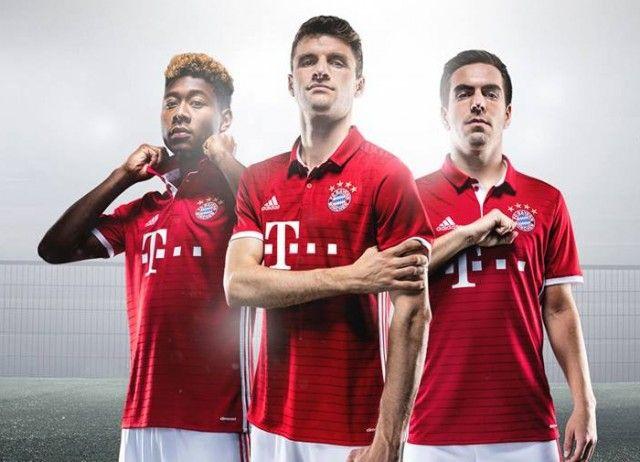 Camisas do Bayern de Munique 2016-2017 Adidas