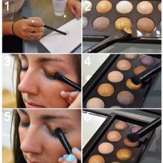 How to properly apply baked eyeshadow