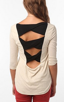 Back Bow Top in Ivory