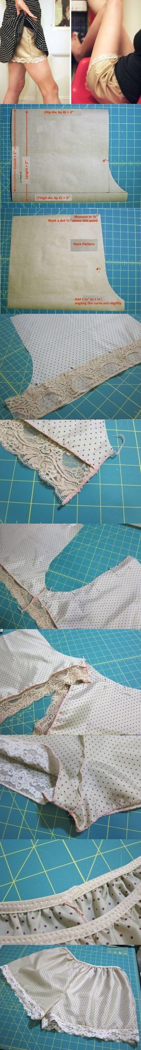 Пижамные женские шорты: выкройка и мастер-класс по шитью своими руками