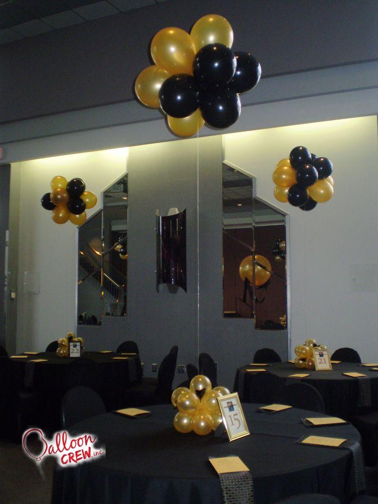 Table Bouquet #balloon #decor #centerpiece #balloondecor #partydecor  #blackandgold #ballooncrewinc - 273 Best Balloon Topiaries Images On Pinterest Topiaries