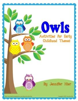 Owls: Activities for Preschool and Early Childhood Themes - Jennifer Hier - TeachersPayTeachers.com