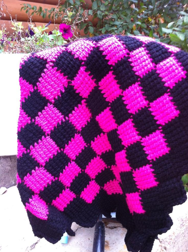 112 best Entrelac knit / crochet images on Pinterest | Tunisian ...