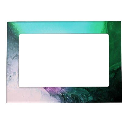 Crystal Wave Magnetic Frame - #customizable create your own personalize diy