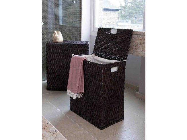 Our Dark Brown Lined Rectangular Gebang Laundry #Baskets come in two practical sizes with a removal calico linings to protect your clothing and make getting it to the machine a doddle.  These laundry #baskets with lids are ideal for concealing mess and keeping any #bathroom or laundry room clutter free. The large laundry basket stores more than enough for the whole #family.#Home #Storage