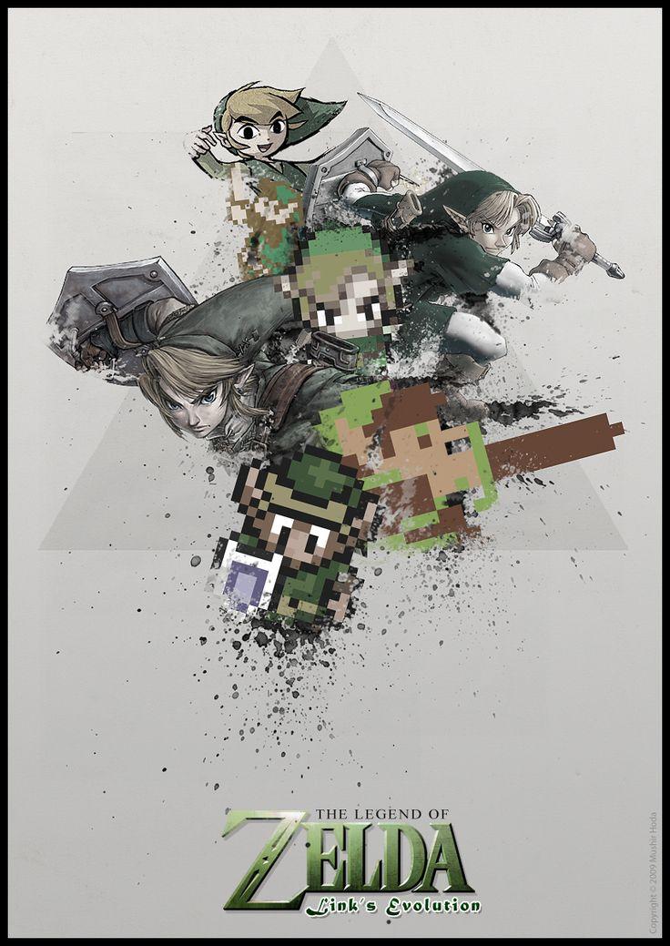Zelda: Link's evolution