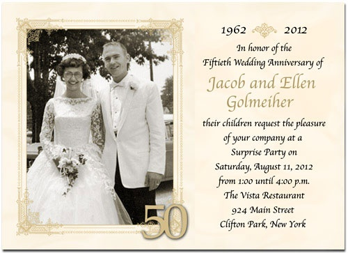 Fiftieth Wedding Anniversary Invitations: 53 Best Images About 50th Wedding Anniversary On Pinterest